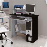 Mesa Para Computador Sophia Carv TQ & Preto Edn Móveis