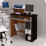 Mesa Para Computador Sophia Imbuia & Preto  Edn Móveis