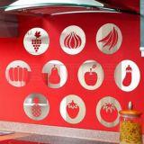 Espelho Decorativo em Acrílico Frutas e Legumes - Médio