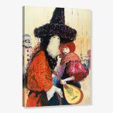 Quadro - Tela em Canvas 100x70cm Carnaval de Venecia