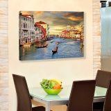 Quadro - Tela em Canvas 100x70cm Entardecer em Veneza