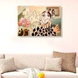Quadro - Tela em Canvas 100x70cm Harlequin and Rose