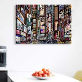 Quadro - Tela em Canvas 100x70cm Illustration of a Street, New York