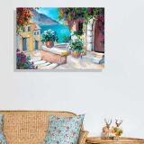 Quadro - Tela em Canvas 100x70cm Maisons Florides