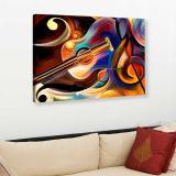Quadro - Tela em Canvas 100x70cm Pintura Violão e Clave de Sol