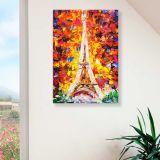 Quadro - Tela em Canvas 100x70cm Torre Eiffel
