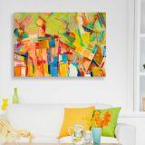 Quadro de Parede - Tela em Canvas 100x70cm Abstrato 2254
