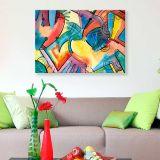 Quadro de Parede - Tela em Canvas 100x70cm Abstrato 2257