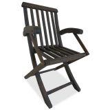 Cadeira Dobrável Golden com Braço Nogueira