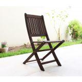 Cadeira sem braço Dobrável - Madeira Escura II