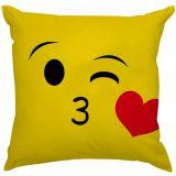 Capa de Almofada Estampas Criativas Emoji Beijo s2