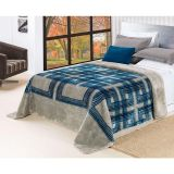 Cobertor Brut King Azul e Cinza Etruria