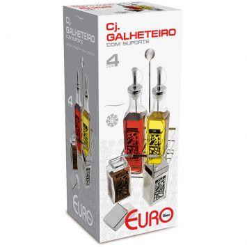 Conjunto Galheteiro 4 pçs Euro Sq