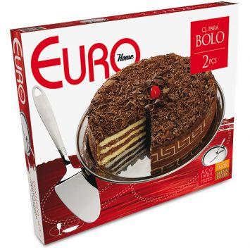Conjunto de Bolo Mesa Posta 2 pçs Euro Mesa Posta