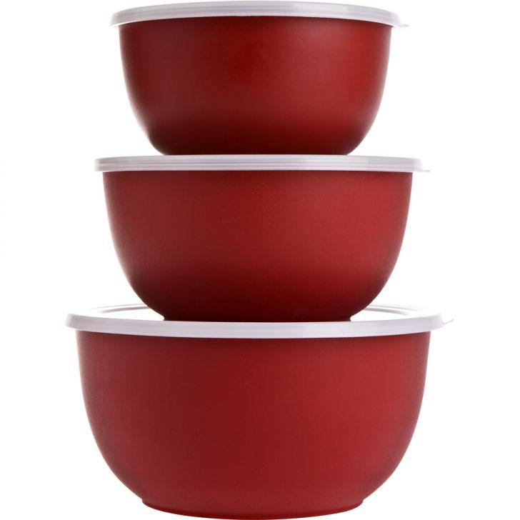Bowl Freezer Vermelho 3 pçs