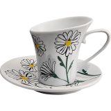 Conjunto Xícaras Chá Amarelo,Branco,Verde 12 pçs