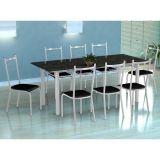 Conjunto Mesa Cordoba E 8 Cadeiras Lisboa Branco E Preto Liso