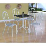Conjunto Mesa Malaga E 4 Cadeiras Alicante Branco E Cinza