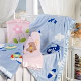 Cobertor Bebê Quicky Baby - Corttex-Rosa Urso