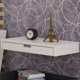 Prateleira Decorativa com Gaveta para Diversos Ambientes - MDF Laqueado - Acabamento Fino - Branco