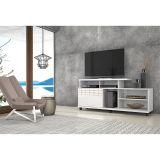 Rack para Tv com Rodízios Trend Branco Gloss - Fiasini Móveis