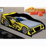 Cama Carro Solteiro Speedy Amarelo