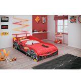 Cama Infantil Hot Wheels Plus C/ Aerofolio Vermelho