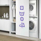 Adesivo Para Lavanderia Como Tratar A Roupa - Pequeno