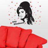 Adesivo de Parede Amy Winehouse 2 - Grande