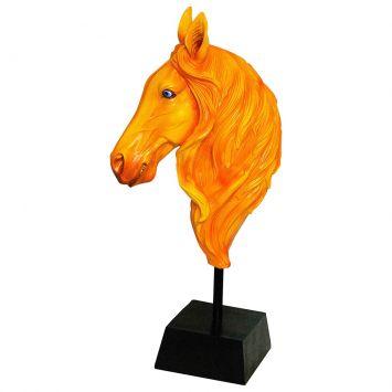 Escultura Busto Cavalo Laranja Fullway 72x34x19 Fullway 100014