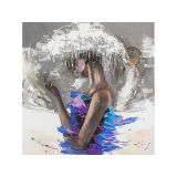 Quadro Pintura Abstrata Negra II