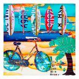 Quadro Praia com Bike e Pranchas Fullway 90X90