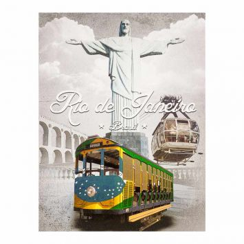 Tela Impressa Bondinho RJ Fullway 30x40x3 Fullway 12524