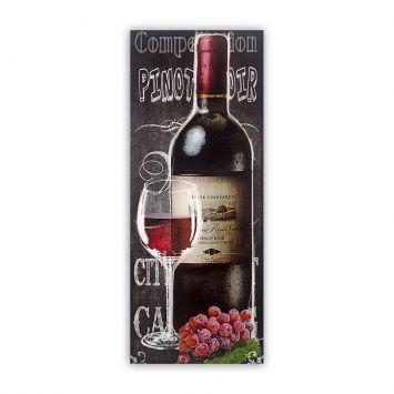 Tela Impressa Garrafa Vinho Tinto Fullway 60x150x6 Fullway 12425