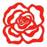 Escultura De Parede 11718 Vermelho  60x60 Fusi