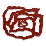Escultura De Parede 12444 Vermelho  60x60 Fusi