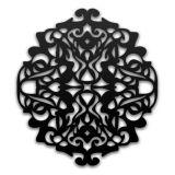 Escultura De Parede 12925 Preto  60x60 Fusi