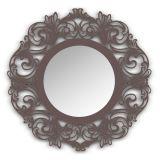 Espelho De Parede  12874I Marrom 70x70 Fusi