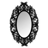 Espelho De Parede  12875P Preto 70x110 Fusi