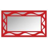 Espelho De Parede  12877V Vermelho 70x110 Fusi