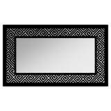 Espelho De Parede  12879P Preto 70x110 Fusi