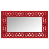 Espelho De Parede  12880V Vermelho 70x110 Fusi