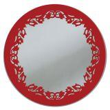 Espelho De Parede  13273V Vermelho 70x70 Fusi