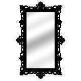 Espelho De Parede  14848P Preto 70x110 Fusi