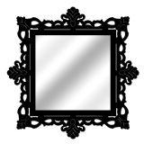 Espelho De Parede  14849P Preto 70x70 Fusi