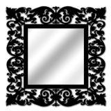 Espelho De Parede  14850P Preto 70x70 Fusi