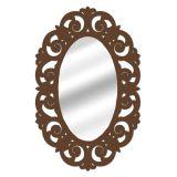 Espelho De Parede  14879I Marrom 70x100 Fusi