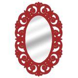 Espelho De Parede  14879V Vermelho 70x100 Fusi