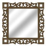 Espelho De Parede  14881I Marrom 70x70 Fusi