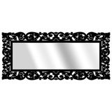 Espelho De Parede  15177P Preto 70x158 Fusi